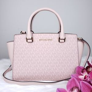 🌺NWT Michael Kors MD Selma Satchel bag Ballet MK